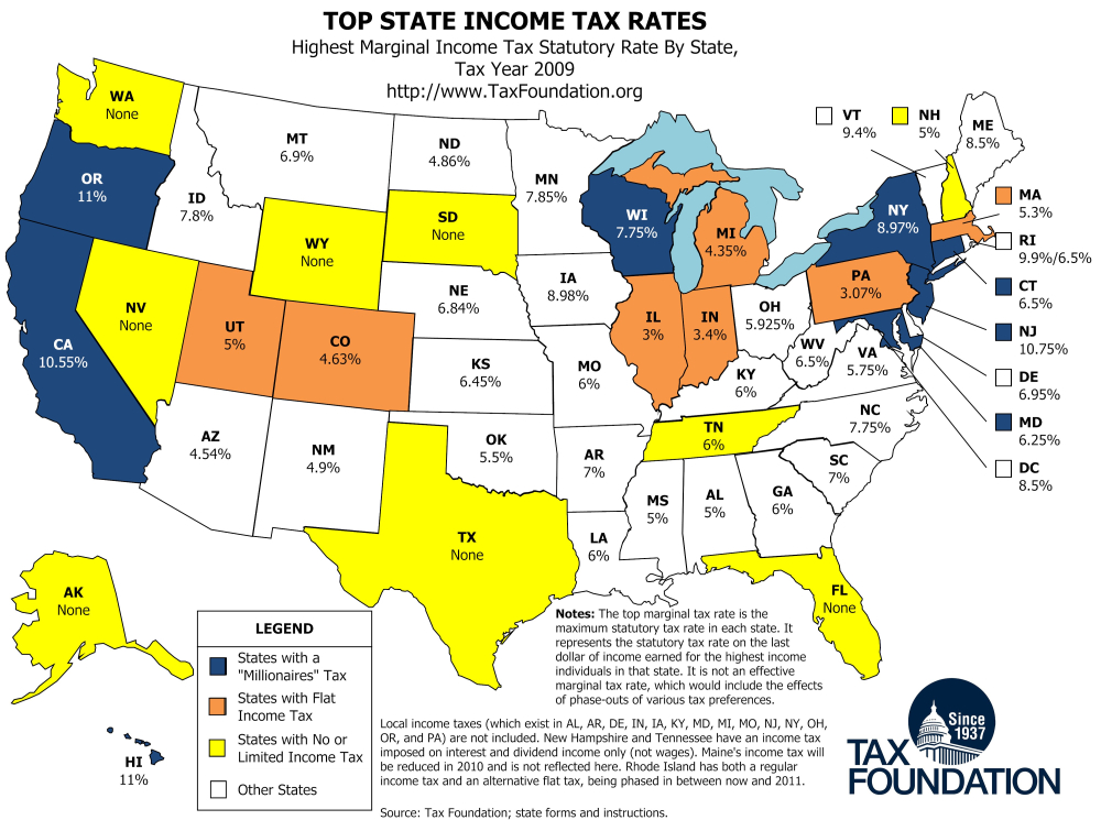 Fact Check Understanding Who Really Pays Most Of US Taxes - Income maps of the us