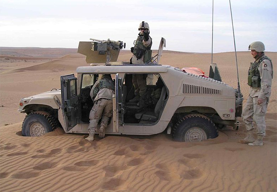 U.S. soldiers are stuck in sand in southern Afghanistan (Source: wikipedia.org/ U.S. DOD Public Domain Image)