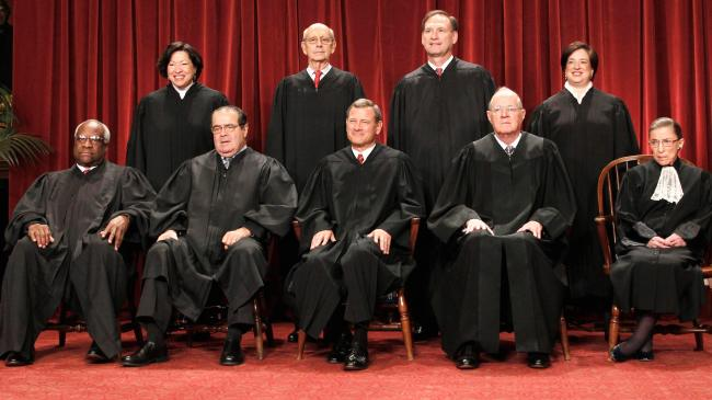 U.S. Supreme Court Justices (2012). Image Credit: public Domain or unknown.