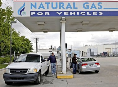 Chinese natural gas pumps are all over China. Chinese billionaire Wang Yusuo, made his money in energy in China. His main company is privately held ENN Group, based in China who is now developing refueling stations in the USA. Photo: Natural Gas (CNG) Station in Salt Lake City, Utah.