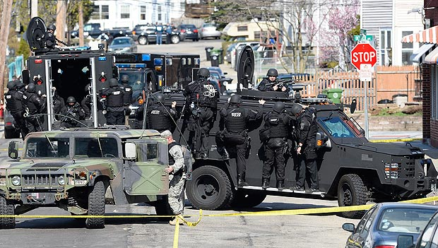 "SWAT Teams Swarm Watertown, MA. looking for ""Suspect 2."""