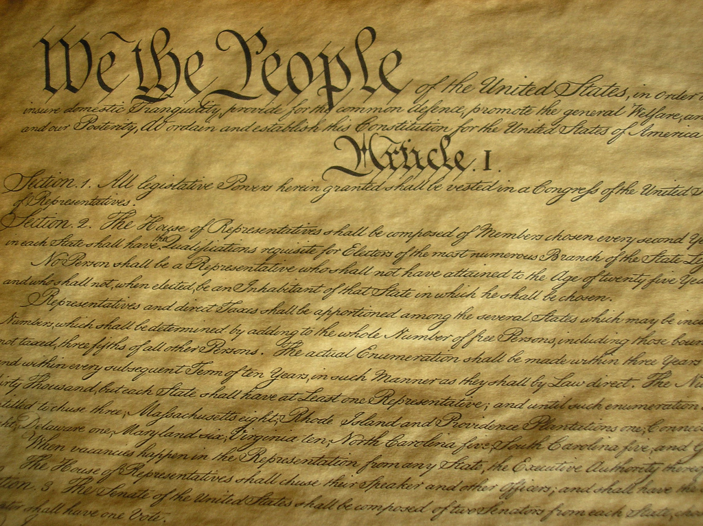 [U.S. Constitution Image Credit: EARN NC, a program of the University of North Carolina at Chapel Hill].