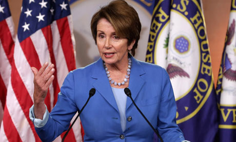 """House minority leader, Nanci Pelosi (D-CA) called Congressional Republicans """"legislative arsonists"""" at a recent press conference. Photo Credit: Chip Somodevilla/Getty Images"""