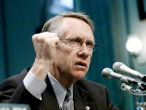 Senator Harry Reid (D-NV) seen here testifying on a bill which would ban betting on Olympic, college and high school sports, before a hearing of the Senate Commerce Committee. (Photo credit: unknown)