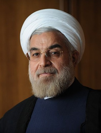 Official photo of Hassan Rouhani, the 7th President of Iran (2013). Photo Credit: rouhani.ir (Source: Wikipedia).