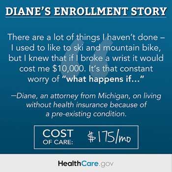 """Diane's story"" (2013) Source: HHS.gov"