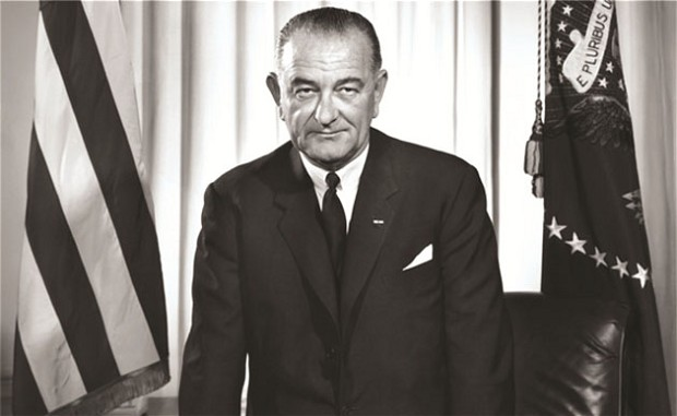 Photo: LBJ. As seen in The Passage of Power: The Years of Lyndon Johnson, Volume Four by Robert Caro. Credit: telegraph.UK