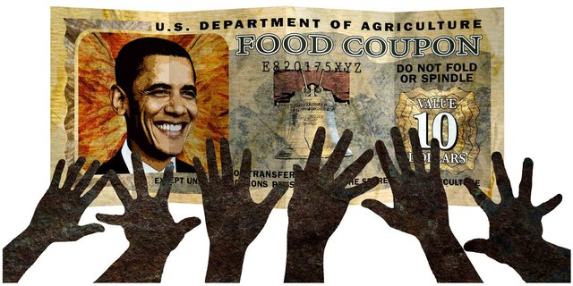 """The food stamp president"" (Credit: Greg Groesch, The Washington Times)"