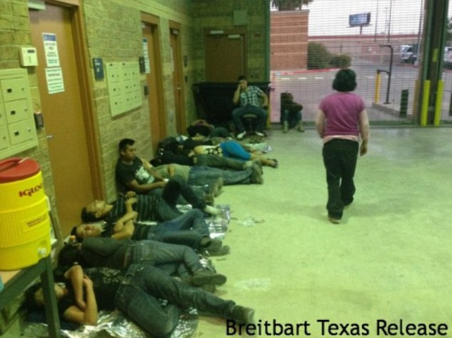 "June 2014. Border Patrol Officers Captures Images of Influx of ""Children"" and 1000's of others  at the Texas Border. (Image Credit: Breitbart Texas)."