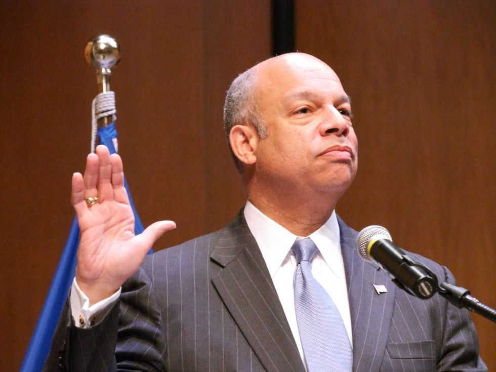 DHS Secretary Jeh Johnson replaced Janet Napolitano.