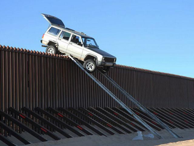 Older photo but Jeep crossing over U.S. Southern Border (uncreditied).