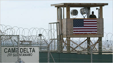 Camp Delta. U.S. military base and detention center. Guantanamo Bay, Cuba. (Image Credit: NY Times).