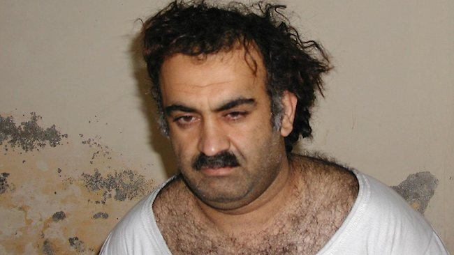 01/03/2003: Al-Qaeda operations commander and mastermind of the 9/11 attacks in the U.S., Khalid Sheikh Mohammed. Photo shortly after his capture during an U.S. raid in Pakistan. (Credit: AP)