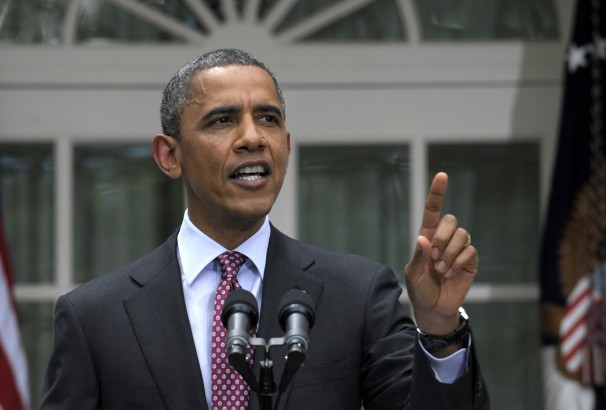 President Obama discusses effective amnesty - promises not to deport up to 800,000 illegal aliens already in the U.S. The result drew tens-of-thousands more people to the U.S. border thinking if they come they will get to stay. (image not credited. please advise for credit)