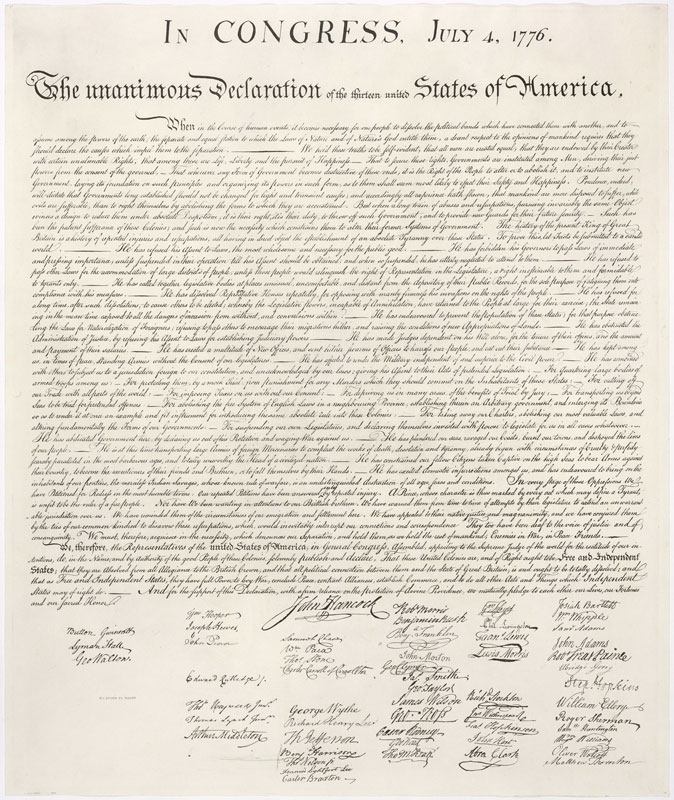 United States Declaration of Independence (photo)
