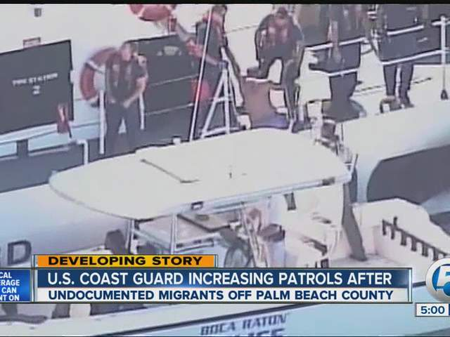 Photo: Undocumented migrants (U.S. law: illegal aliens)  found off the Florida Coast in 2013. Image Credit WPTV News, Florida.
