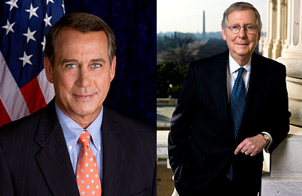House Speaker Boehner (R-Ohio) & Senate Majority Whip Mitch McConnell (R-Kentucky)