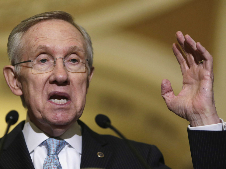 Harry Reid  in late 2014 (image credit unknown. Please advise for credit).