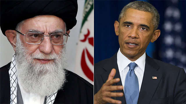 Ali Hosseini Khamenei, 2nd Supreme Leader of Iran and Pres. Barack Obama (image credit: uncredted. Please advise for credit).