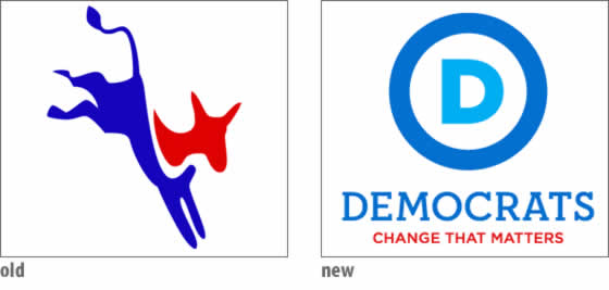 Revisions of Democrat Logo now remove the Donkey from the picture due its configuring meaning.