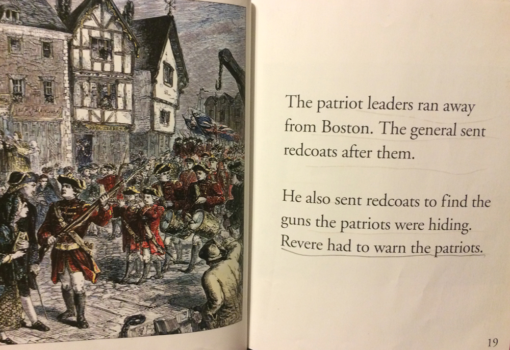 Rare children's book that actually, briefly and correctly tells the story of the American Revolution against British Tyranny. (Please advise for credit. Lost image for title credits).
