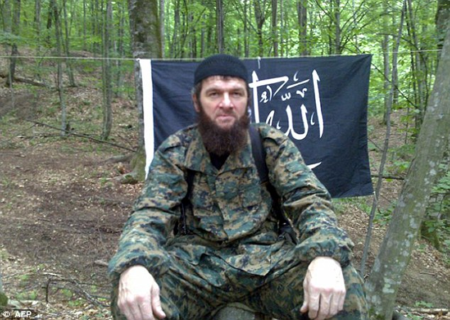 """Russian-born Doku (Dokka) Khamatovich Umarov, also called by the Arabized name of """"Dokka Abu Usman."""" He is an  Chechen Islamist militant currently wanted by Russia for the crimes of kidnapping, homicide and treason. He is one of the major rebel leaders in Russia and has claimed responsibility for numerous terrorist attacks, including the 2010 Moscow Metro bombings and the 2011 Domodedovo International Airport bombing. Source: https://en.wikipedia.org/wiki/Dokka_Umarov"""