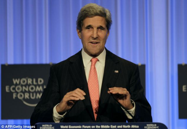 U.S. Secretary of State John Kerry has an ambitious plan for the Palestinian economy. (Image Credit: AFP/Getty. Source: DailyMail.UK).